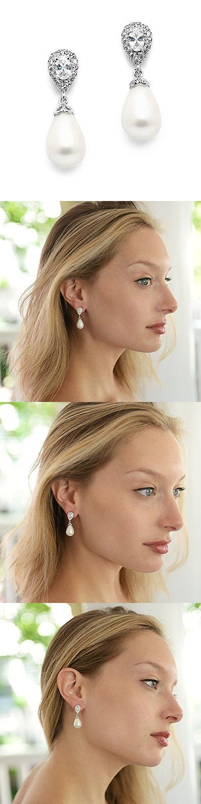Bridal Jewelry 163552: Earrings Pear-Shaped Bold Soft Cream Pearl Drops Jewelry Bridal Valentines Day -> BUY IT NOW ONLY: $35.54 on eBay!