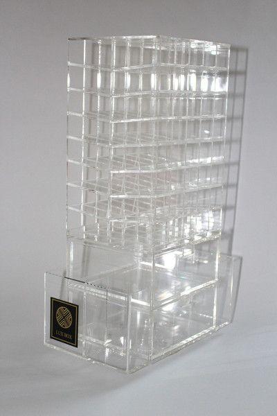 90 Lipstick holder acrylic makeup organizer clear drawers stand mac makeup artist storage lippy
