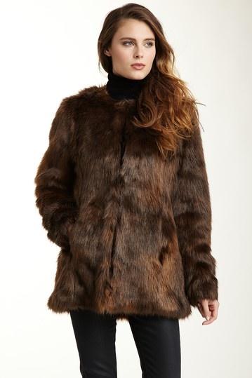 Velvet Kenzie Brown Faux Fur Coat; also comes in black: Kenzie Brown, Hautelook, Winter Style, Personal Style, Brown Faux, Velvet Kenzie, Chic Style, Faux Fur Coats