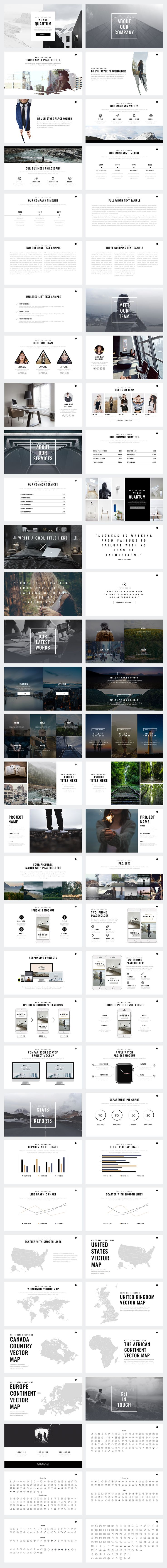 Quantum Minimal Keynote Template by Slidedizer on @creativemarket