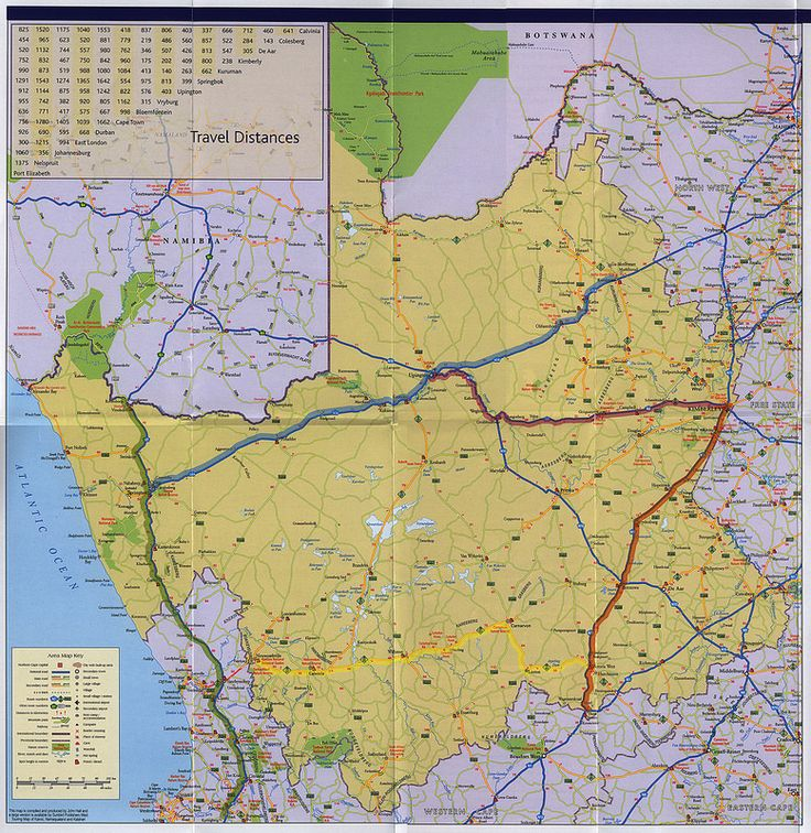Experience Northern Cape South Africa, Map Brochure; 2013_2 | tourism travel brochure | by worldtravellib World Travel library
