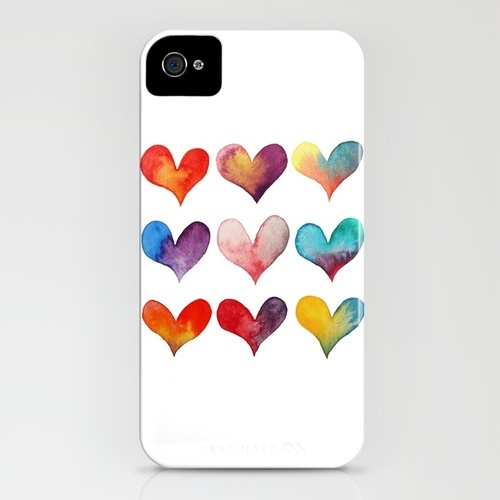 color of hearts iPhone Case