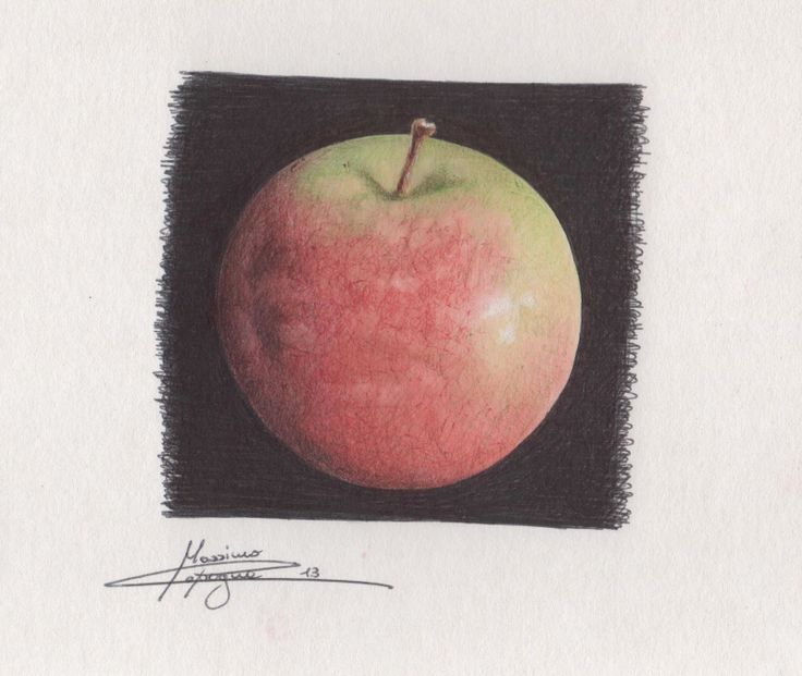 Massimo Capogna - Artist:  Acquerello ripassato con penne bic colorate.   S...
