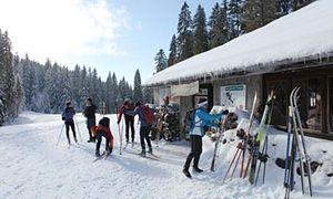 cross-country skiing, Jura, France
