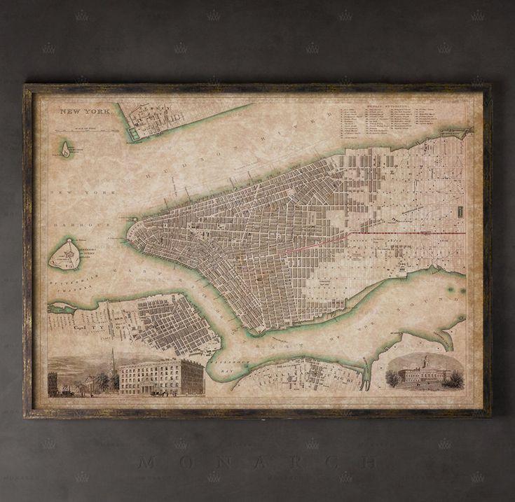 MAP OF NEW YORK CITY MANHATTAN BROOKLYN