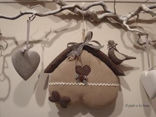 """Il Gufo e la Luna shabby chic & country style: Cucito Creativo: """" un cuore una capanna!"""""""
