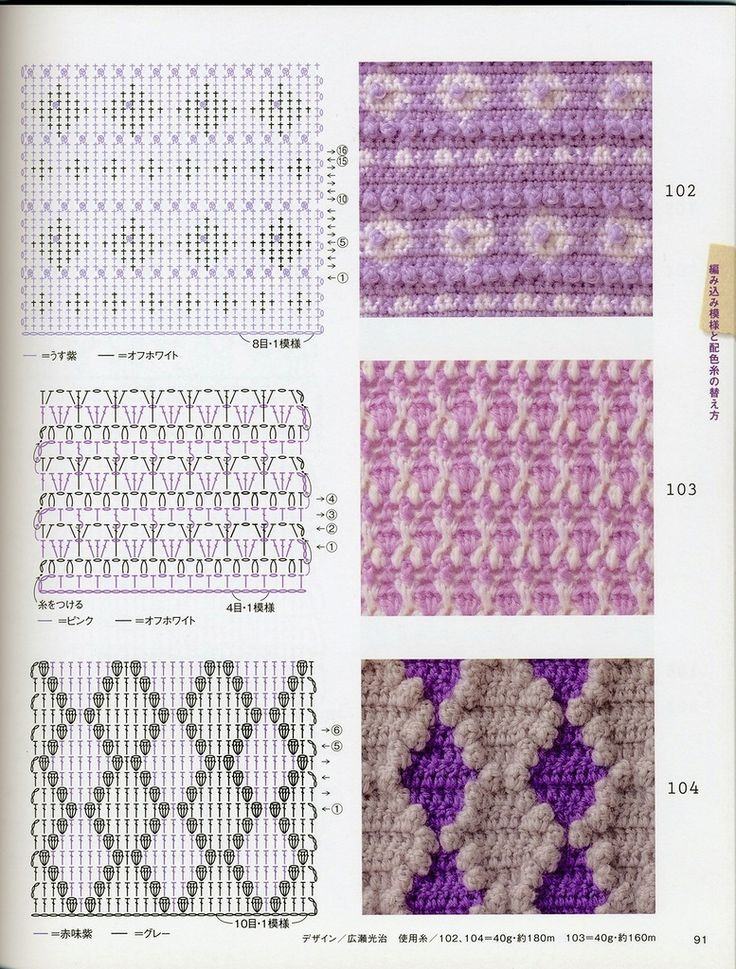 In the treasury: two-tone crochet patterns and how to knit. Discussion on LiveInternet - Russian Service Online Diaries