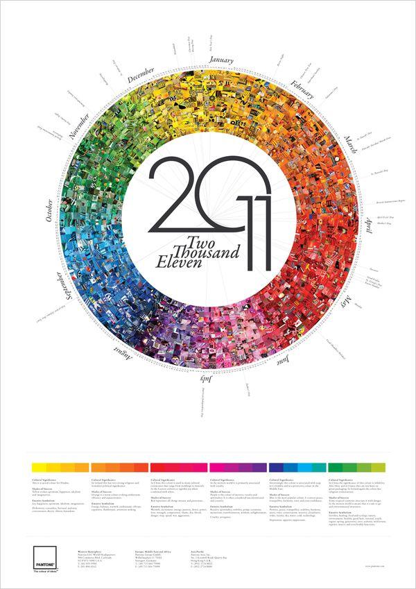 Pantone Calendar by Derek Bowers, via Behance