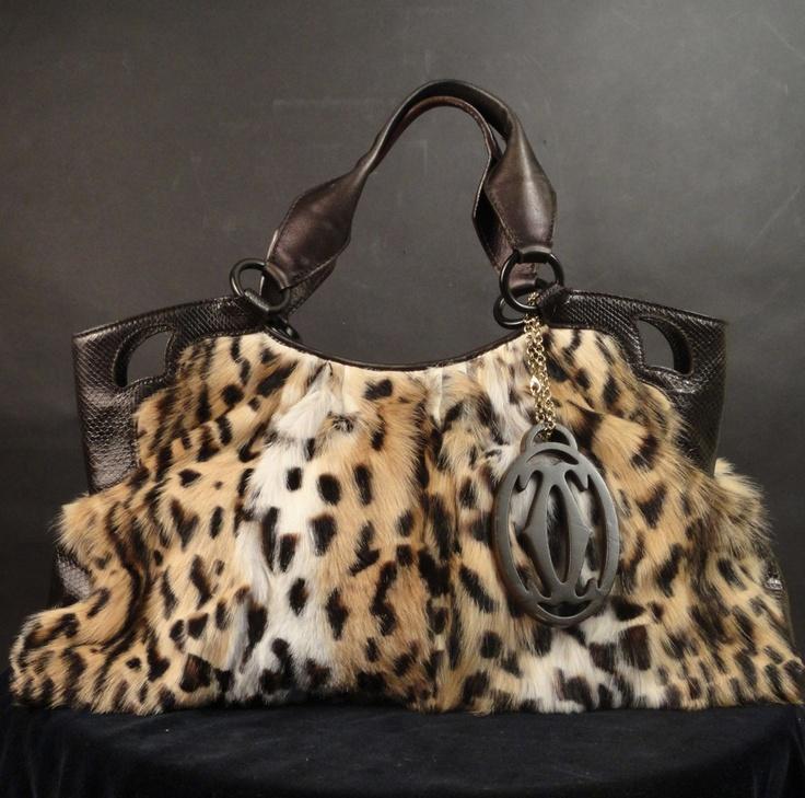 """Fur Leopard Marcello de """"Cartier"""" Bag"""