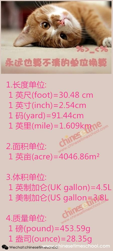 So Hard To Memorize These Units of Measurement - Chinese Time Courses Chinese Language - Page 1 - chinesetimeschool.com