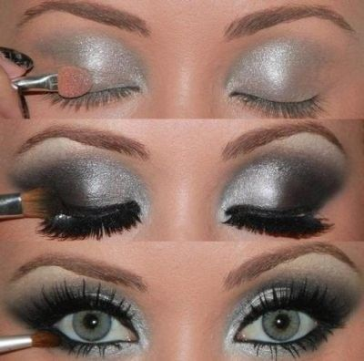 cool eyes: Silver Eyeshadow, Silver Eye Makeup, Silver Black Eye, Smokey Eyes, Smoky Eye, Beautiful Eyes, Silver Smokey Eye, Smokey Eye Makeup