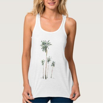 #stylish - #Palm Trees in Watercolor Tank Top