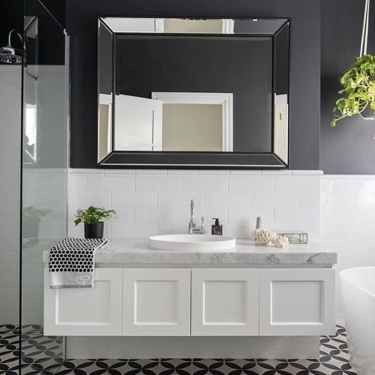 We love the moody tones in this gorgeous bathroom featuring our London vanity. Fabulous work @colourcube_interiors ✔️ ADP (@adpaustralia)