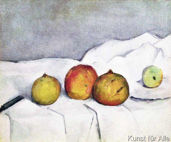 Paul Cézanne - Fruit on a Cloth, c.1890