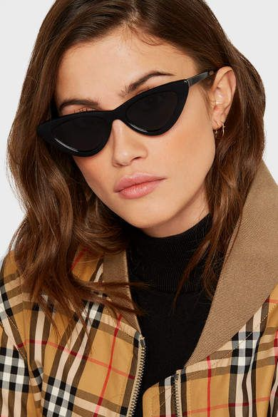 78633375a7 Micro Sunglasses. Shop for Le Specs Adam Selman The Last Lolita Cat-eye  Acetate Sunglasses on ShopStyle.com