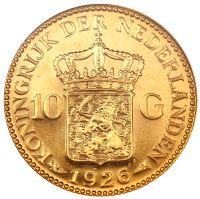 Ten Gulden coin from the Netherlands