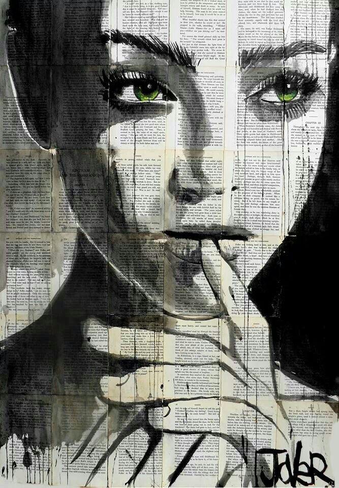 "Artist: Loui Jover; Ink 2013 Drawing ""undine"""