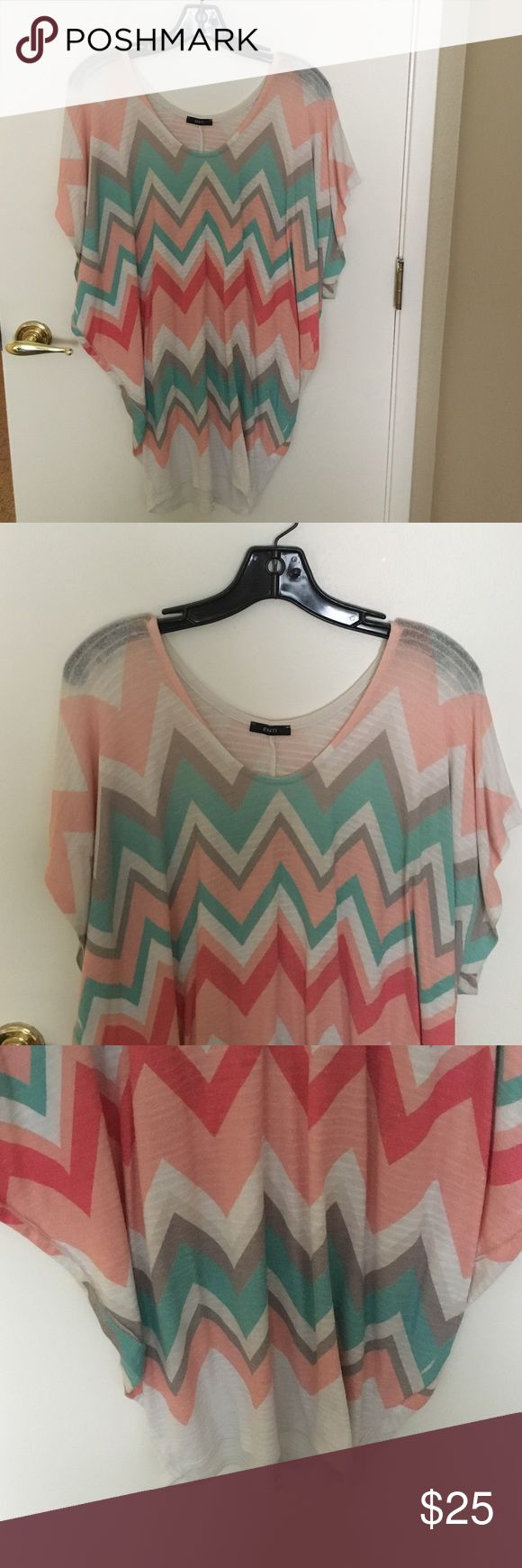 Tunic style chevron shirt Roomy, comfy chevron print shirt. This shirt is HUGE and such a comfy fit with jeans! Tops Tunics