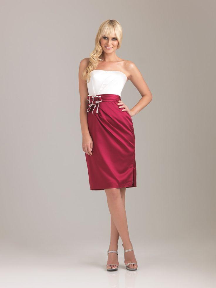 Allure v-neck red cocktail dress