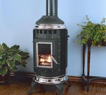 Thelin Parlour Wood Stove Nickel Plated Trim Package