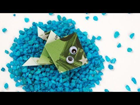 Geldschein falten Schildkröte, originelles Geldgeschenk, Origami Schildkröte falten #TrauDirWasZu - YouTube
