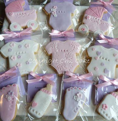 Chic Cake: Biscotti decorati Battesimo