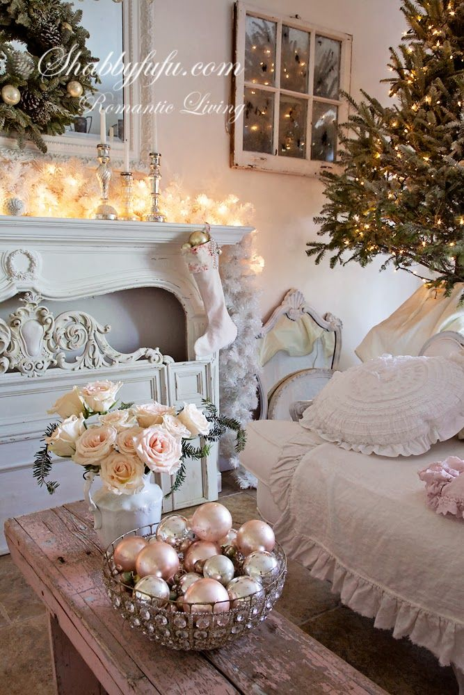 Shabbyfufu: Christmas 2013 At Shabbyfufu....Simple Shabby Chic And French Elegance