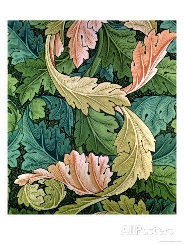 """""""Acanthus"""" Wallpaper Design, 1875 reproduction procédé giclée par William Morris sur AllPosters.fr"""