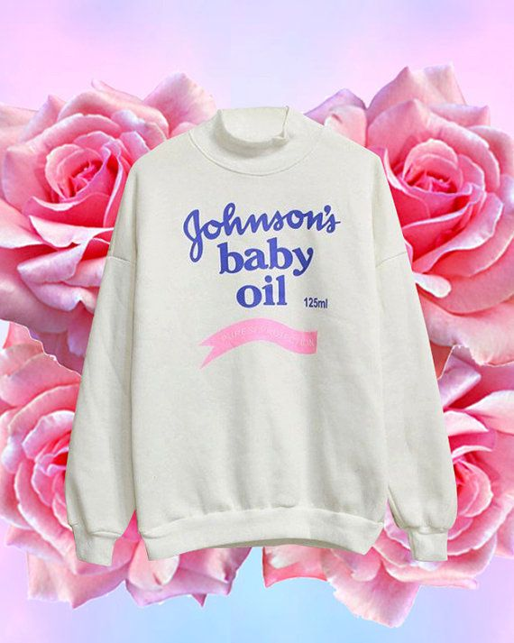 Johnsons baby oil sweater One size Chest: 116cm Length: 63cm Sleeve: 63cm  Orders are processed within 1-7 business days. We ship worldwide! The