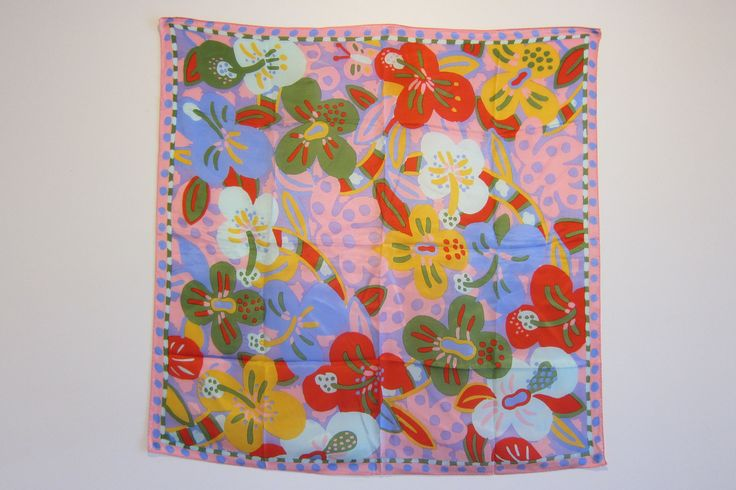 Vintage Ken Done floral scarf 80's Australiana. $20.00, via Etsy.