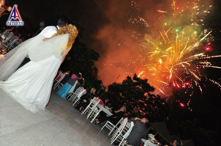 Aslanlar club düğün töreni havai fişek gösterisi 6