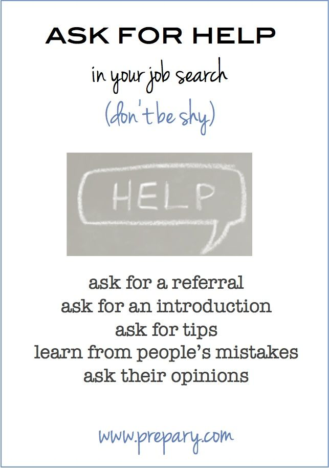 Asking For Help In Your Job Search HR For All Pinterest Job