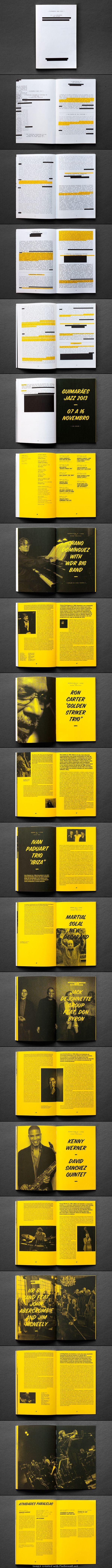 austreichen ... unterstreichen ... arbeiten mit einer zusätzichen Farbe...  Guimaraes Jazz 2013