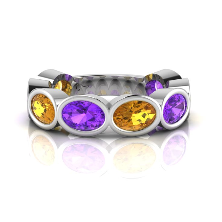 Silver Amethyst and Citrine Ring. R2500  Product Code- WR00135