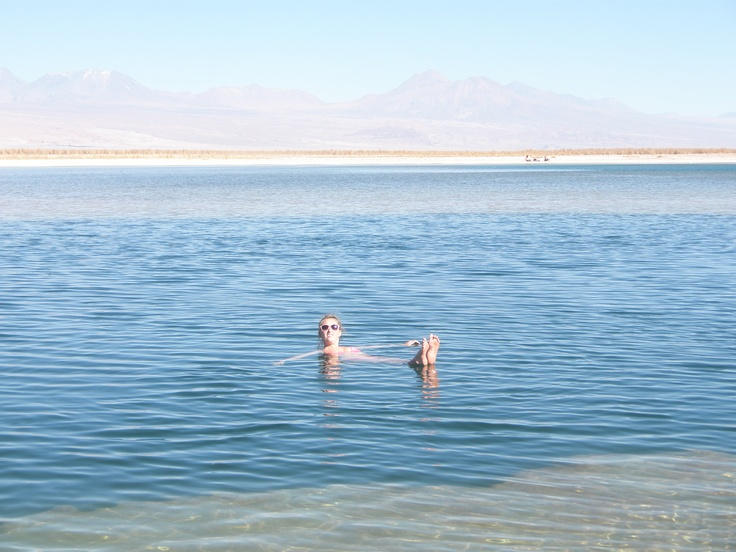 This is the Emerald Lagoon in the Atacama Desert!  It's physically impossible to not float in the water because it has more salt and lithium than the Dead Sea!!!