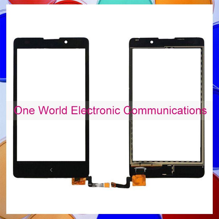 """5.0 """"noir Pour Nokia XL RM-1030 RM-1042 Touch Écran Tactile Numériseur Capteur Avant Lentille En Verre Livraison Gratuite [Code de suivi]"""
