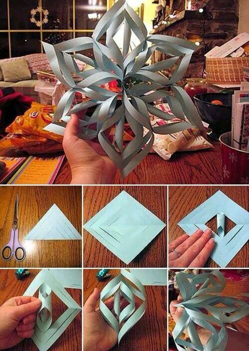 I'm a DIY freak,  and these snowflakes give me life!