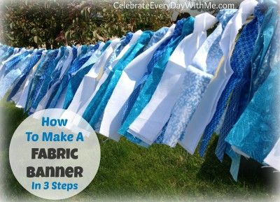 How to Make a Fabric Banner in 3 Easy Steps