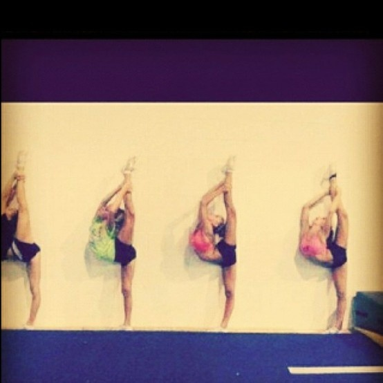 The next time someone says cheerleading is easy I want you to think of this and try it at home.
