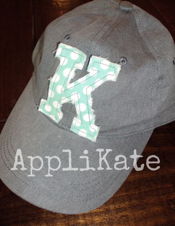 Preppy Personalized Ladies Baseball Cap by AppliKate on Etsy, $20.00