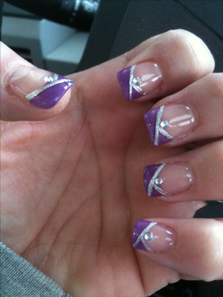 purple wedding nails ideas