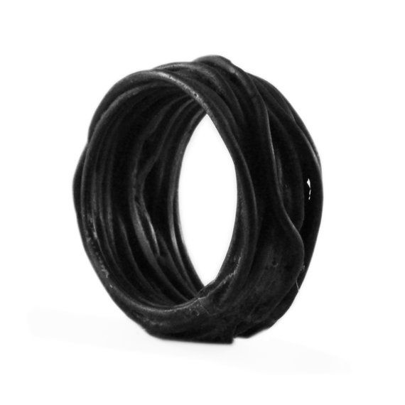 Black Ring Men and Womens Jewelry Matte by carpediemjewellery