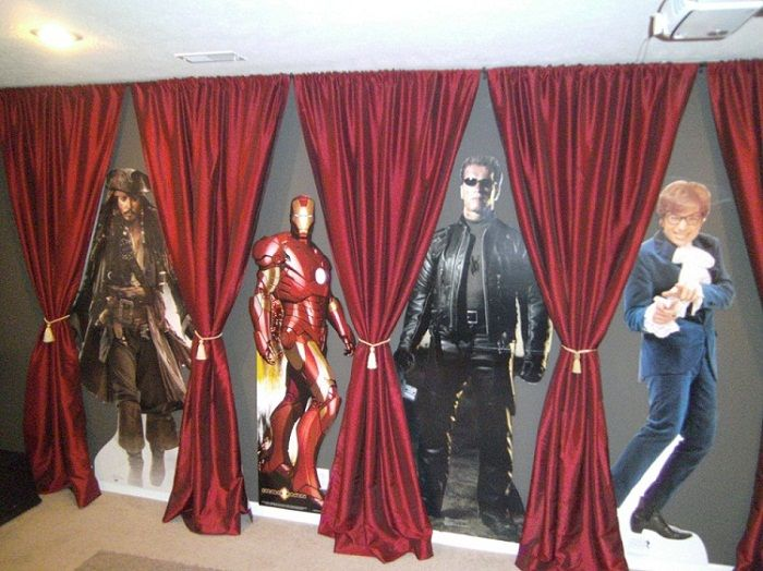 Home Movie Theater Decor Ideas. Gallery Of Decoration Glamorous Home ...