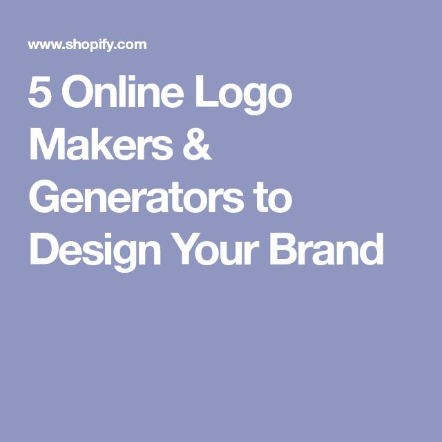 5 Online Logo Makers & Generators to Design Your Brand