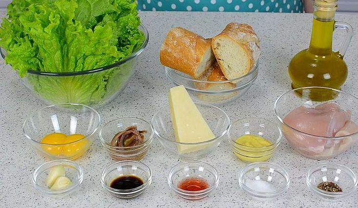 Ингредиенты для салата «Цезарь»