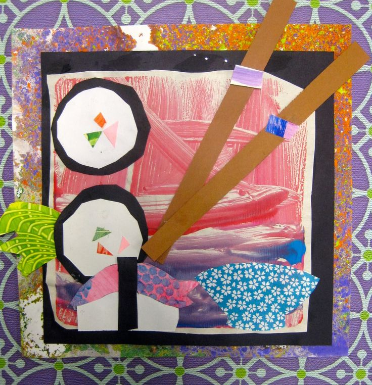 sushi collages by 1st grade
