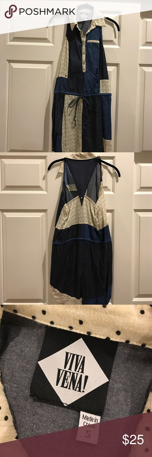 Nordstrom Denim Dress-Small Vina Vena! Denim Dress purchased at Nordstrom and worn only once. Lightweight. Racerback. Drawstring waist. Super soft and cute. Perfect with sandals or boots and any country concert! :) Viva Vina! Dresses Mini