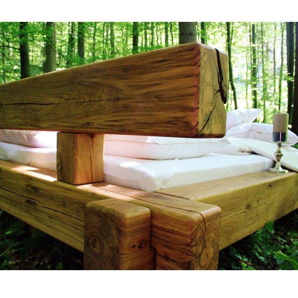 die besten 25 holzbalken bett ideen auf pinterest. Black Bedroom Furniture Sets. Home Design Ideas