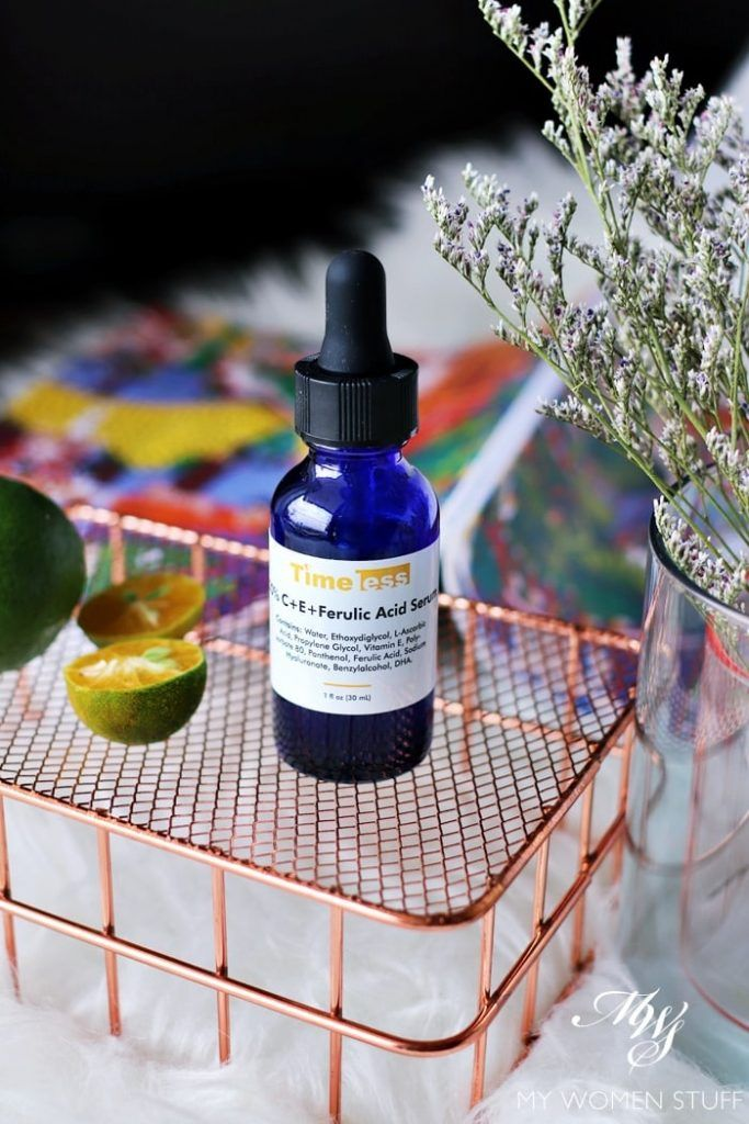 Increase your skin's brightness filter with the Timeless 20% Vitamin C + E + Ferulic Acid Serum