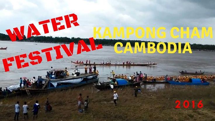 kampong cham water festival - travel - street food videos - kampong cham...